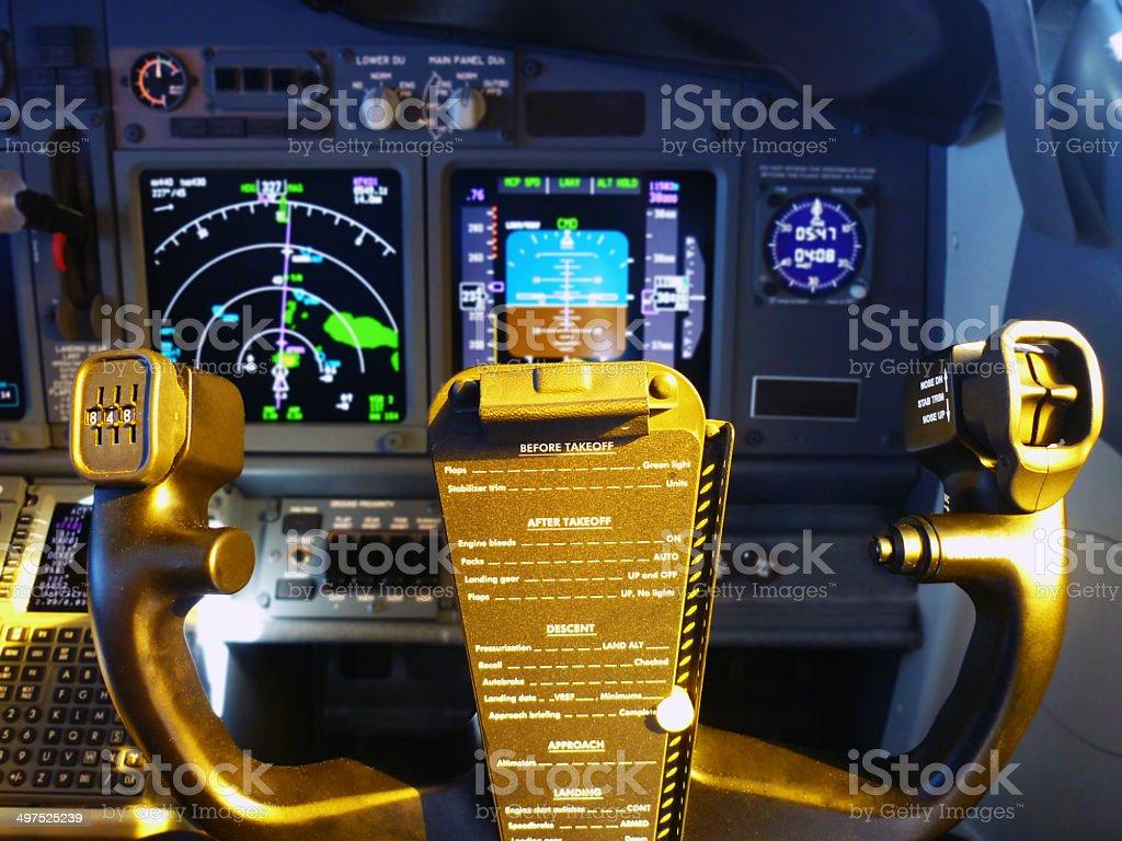 Control Wheel Steering Of Boeing 737800 Stock Photo
