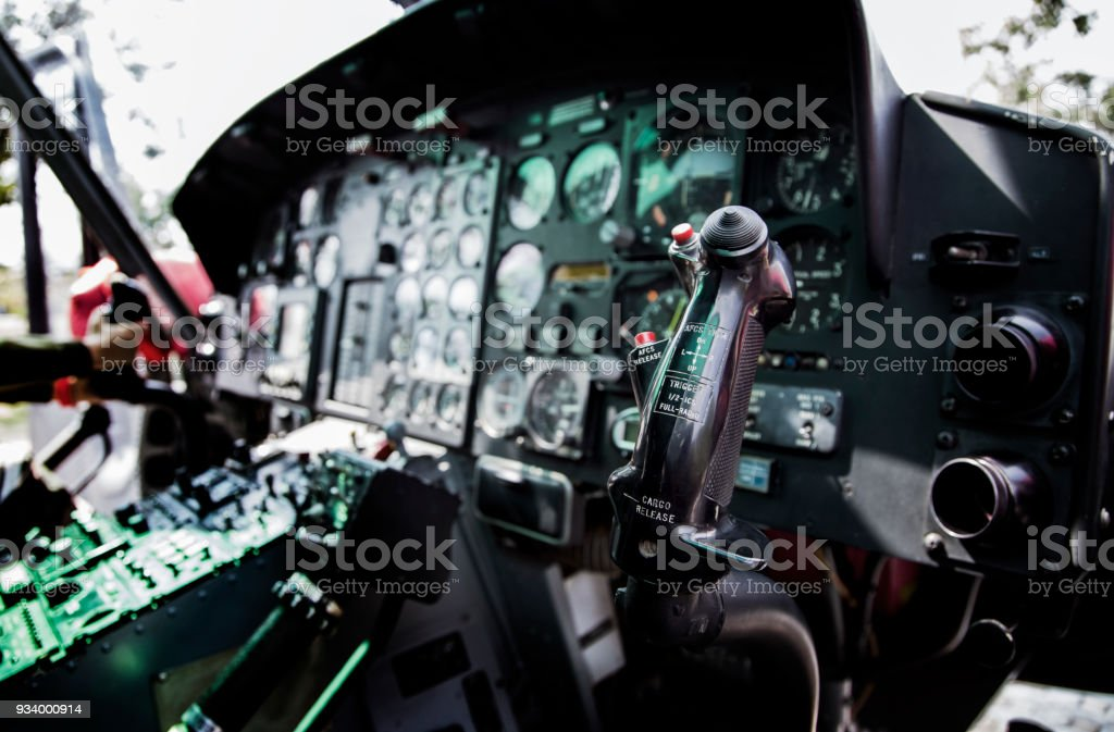 controler of helicopter with scale in air transport concept stock photo