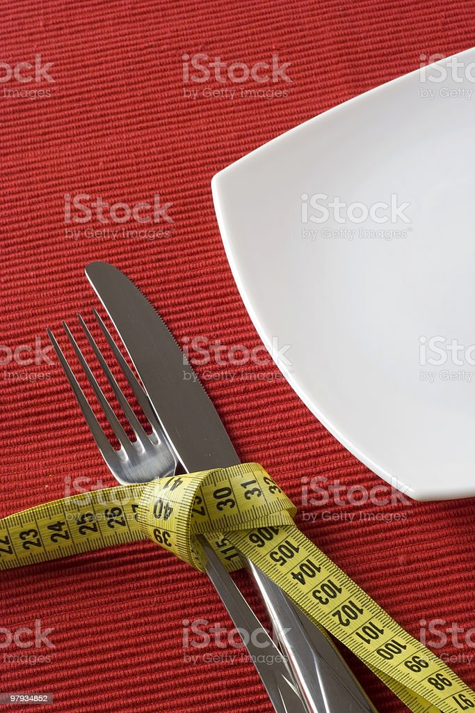 Controling obesity royalty-free stock photo