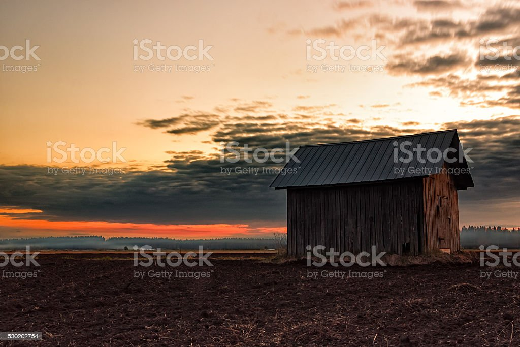 Controlled Burn In The Night stock photo