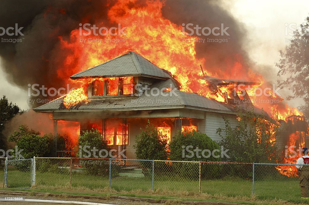 Controlled Burn royalty-free stock photo