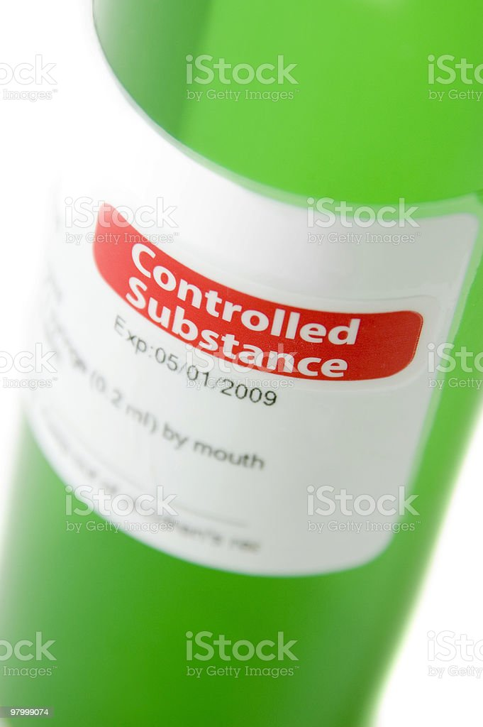 Controlled Substance royalty free stockfoto
