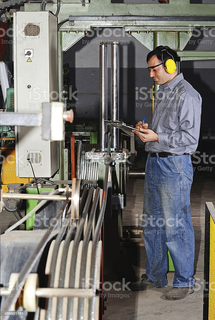 controller in the factory royalty-free stock photo