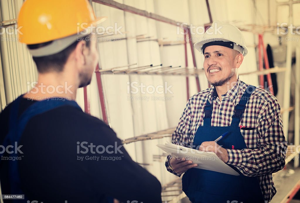 controller offering contract to employee stock photo