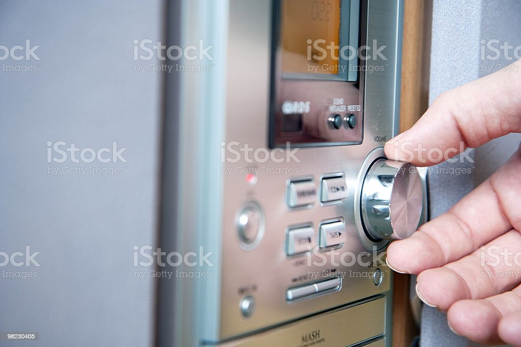 Controlling player volume royalty-free stock photo