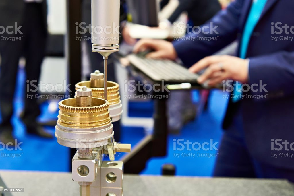 Controlling process of measuring product stock photo