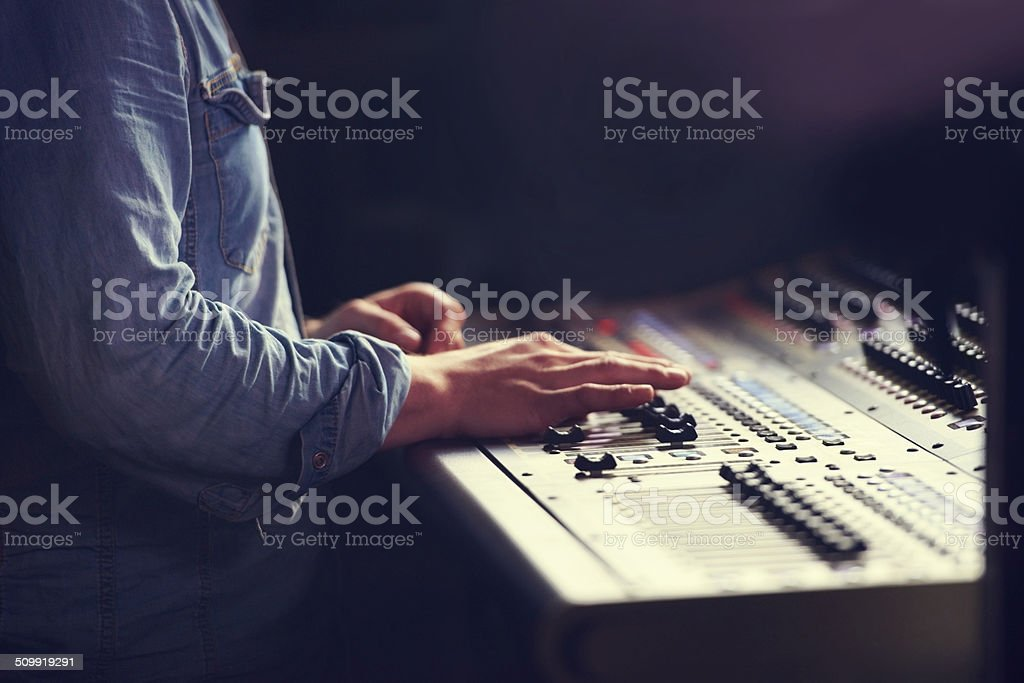 Controlling the quality of sound stock photo