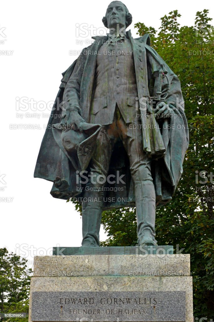 Controversial statue of Edward Cornwallis stock photo