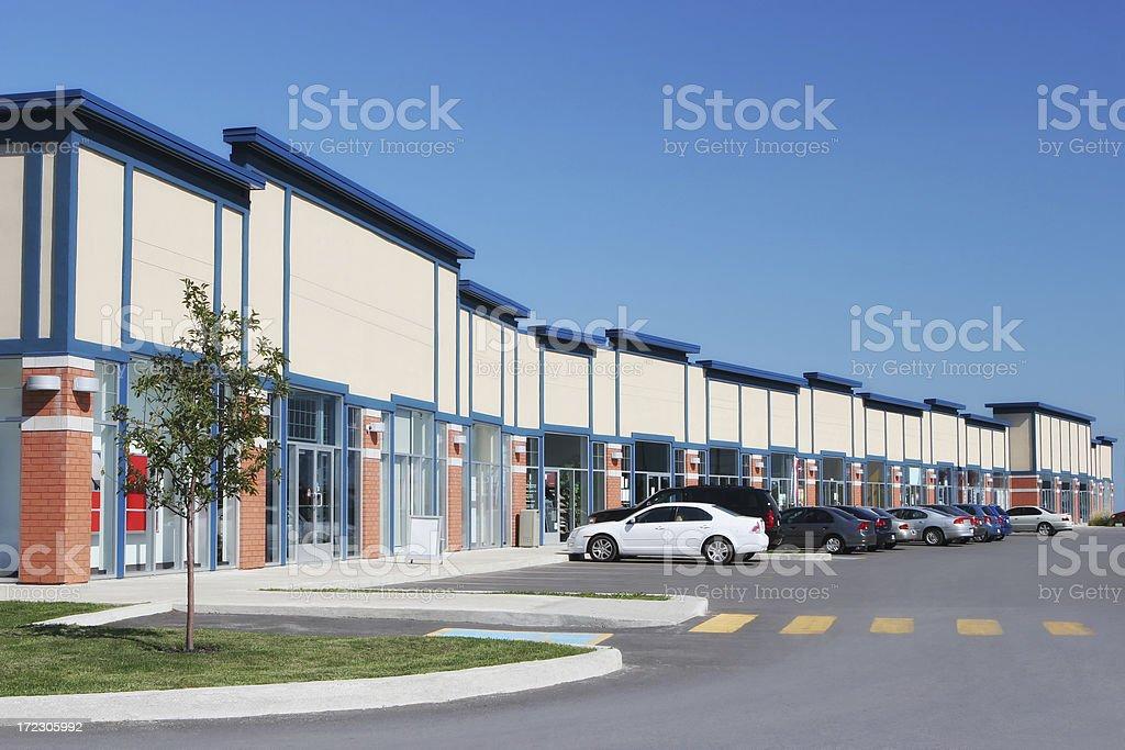 Convenient Strip Mall Store Building stock photo