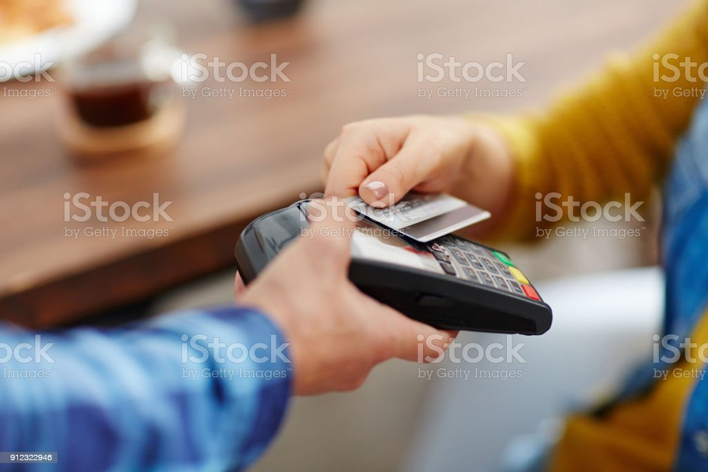 Convenient way of payment stock photo