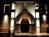 The Convent of Our Lady of Mount Carmel Door buy night, gothic, Lisbon, Portugal