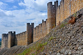 External wall of the Convent of Christ is a former Roman Catholic convent in Tomar, Portugal