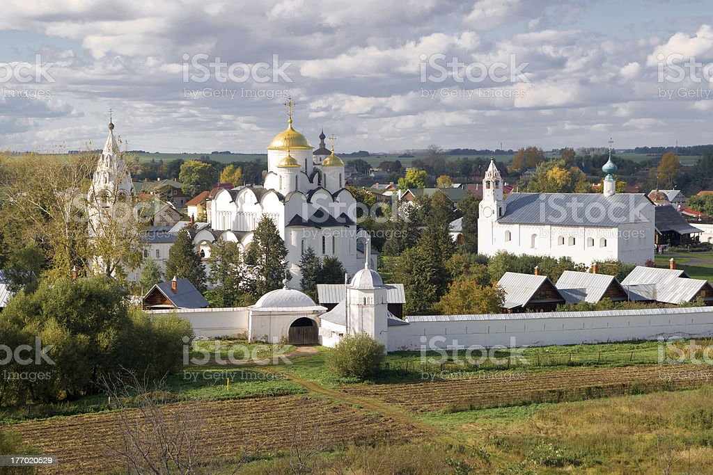 Convent of Intercession in ancient Suzdal town royalty-free stock photo