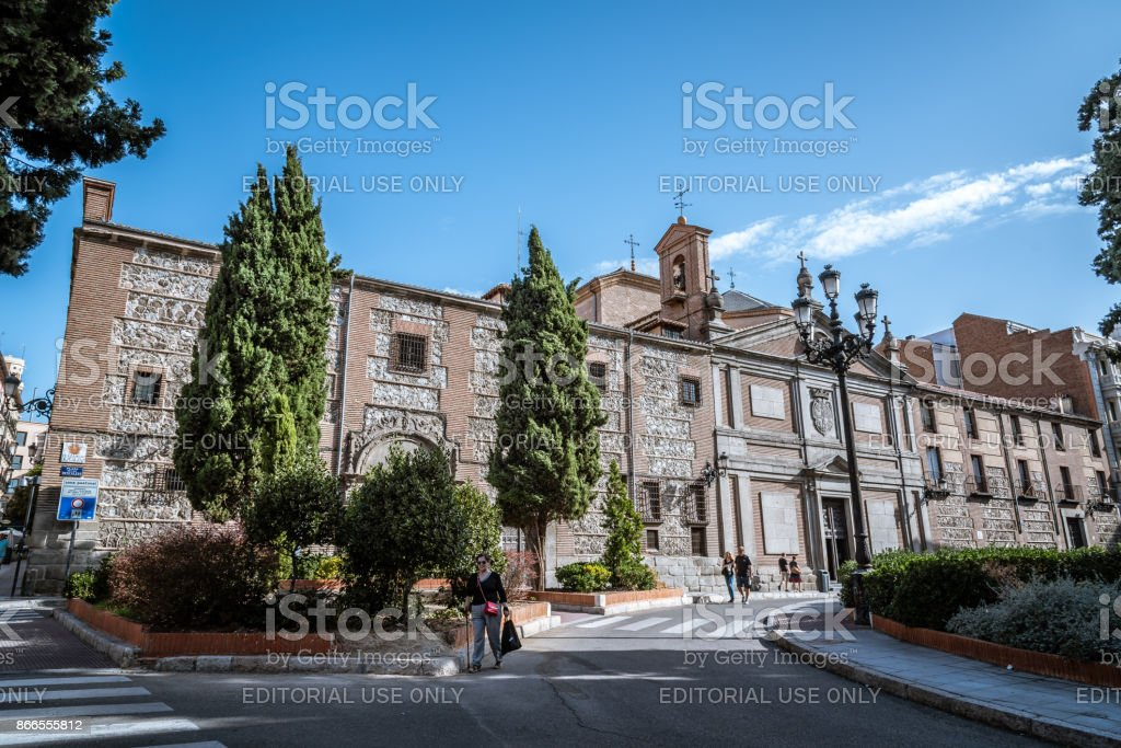 Convent of Las Descalzas Reales in Madrid stock photo