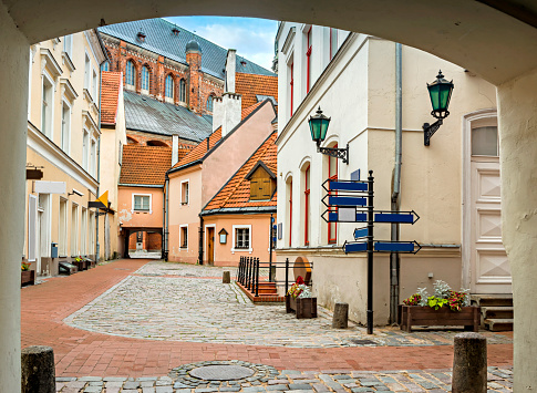 Convent yard in old city of Riga