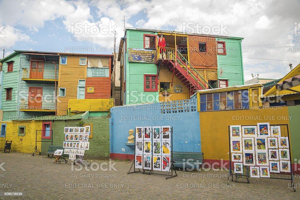 Conventillos in Caminito royalty-free stock photo