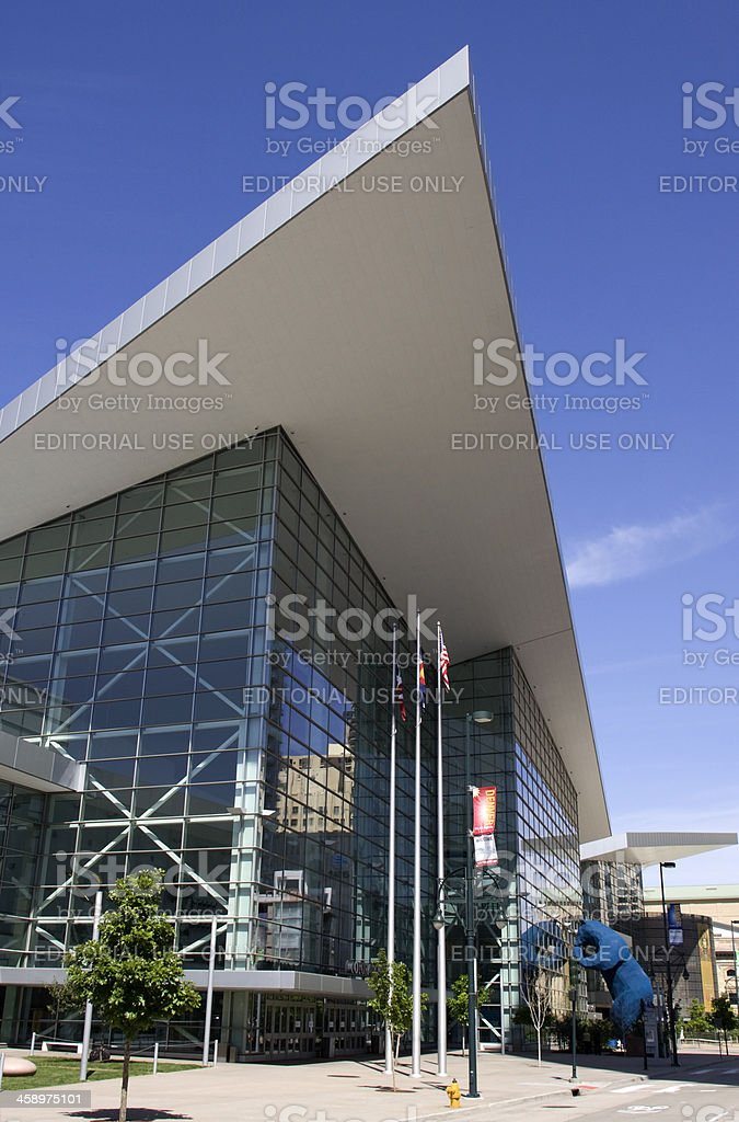 Convention center downtown Denver Colorado stock photo