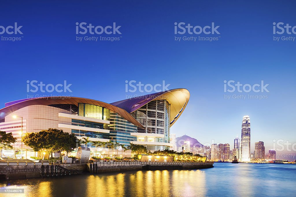 Convention Center, Hong Kong stock photo