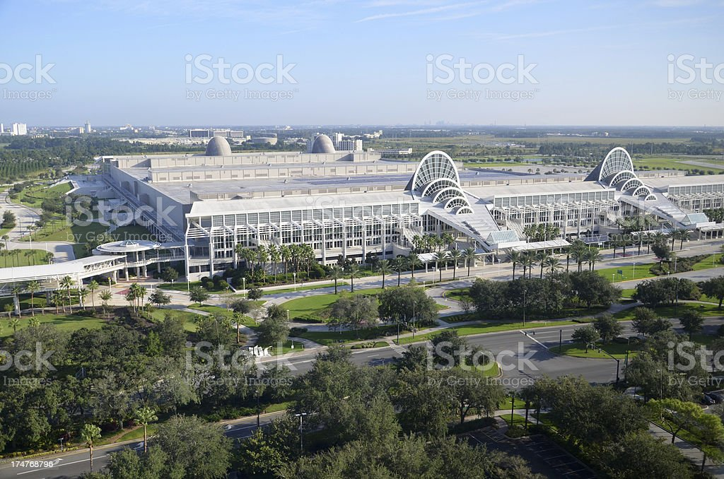 Convention center in Orange County, Orlando stock photo