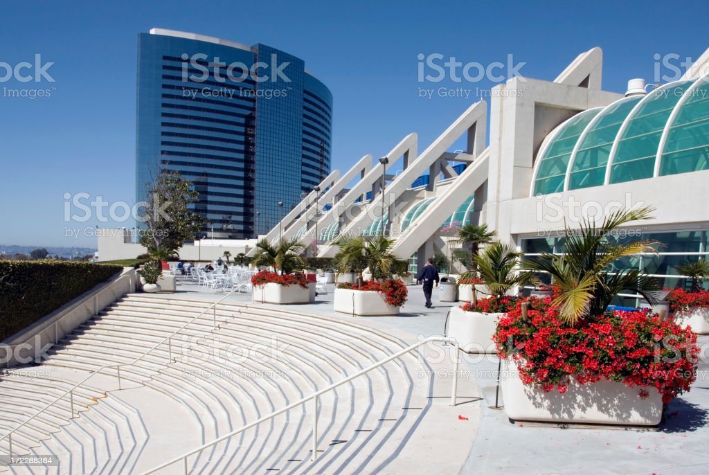 Convention Center San Diego royalty-free stock photo