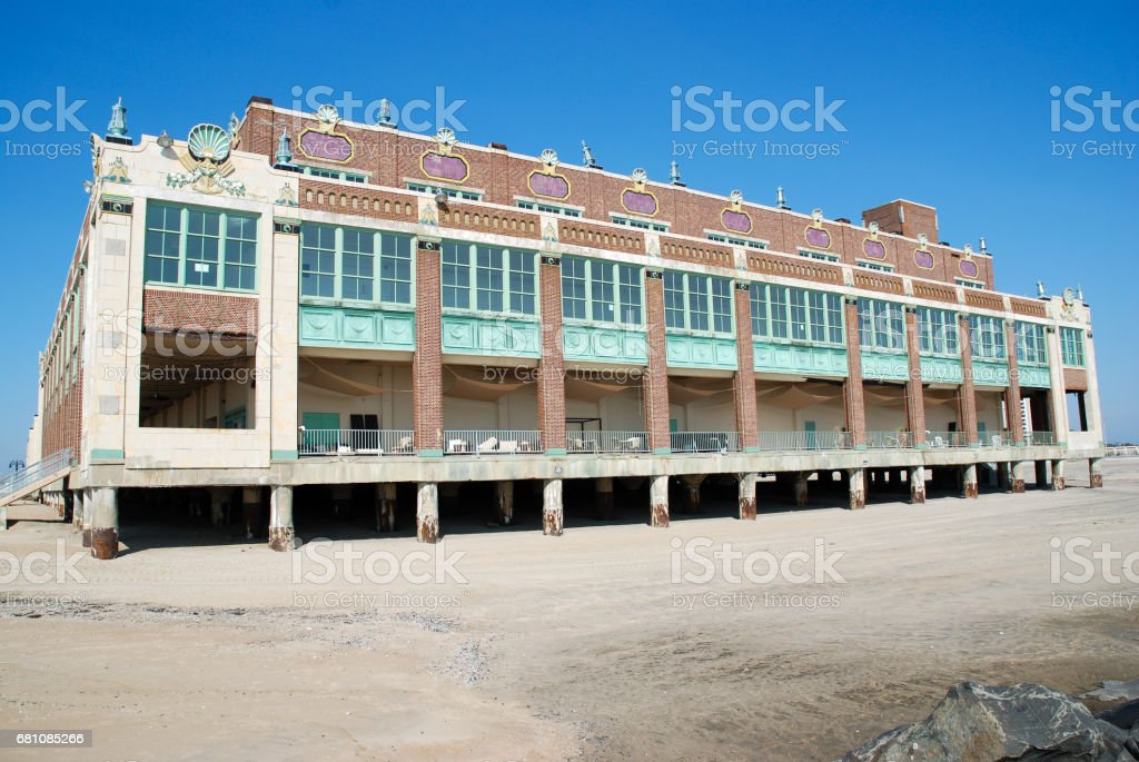 Convention Hall, AP (NJ) - USA. External front view royalty-free stock photo