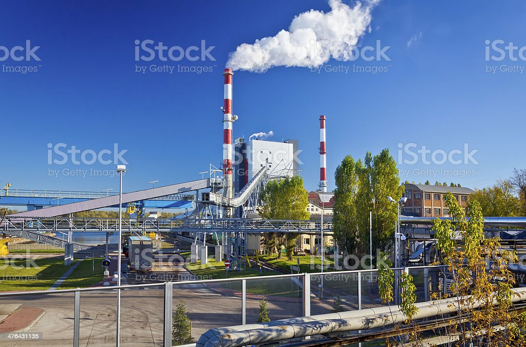 Conventional power station royalty-free stock photo