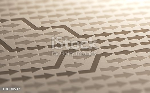 istock Convergence Background, Converge Toward Objective 1139052717