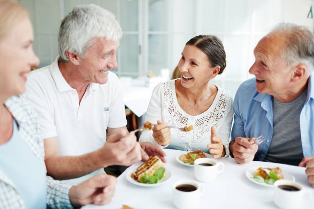 conversation by dessert - eating technology stock photos and pictures