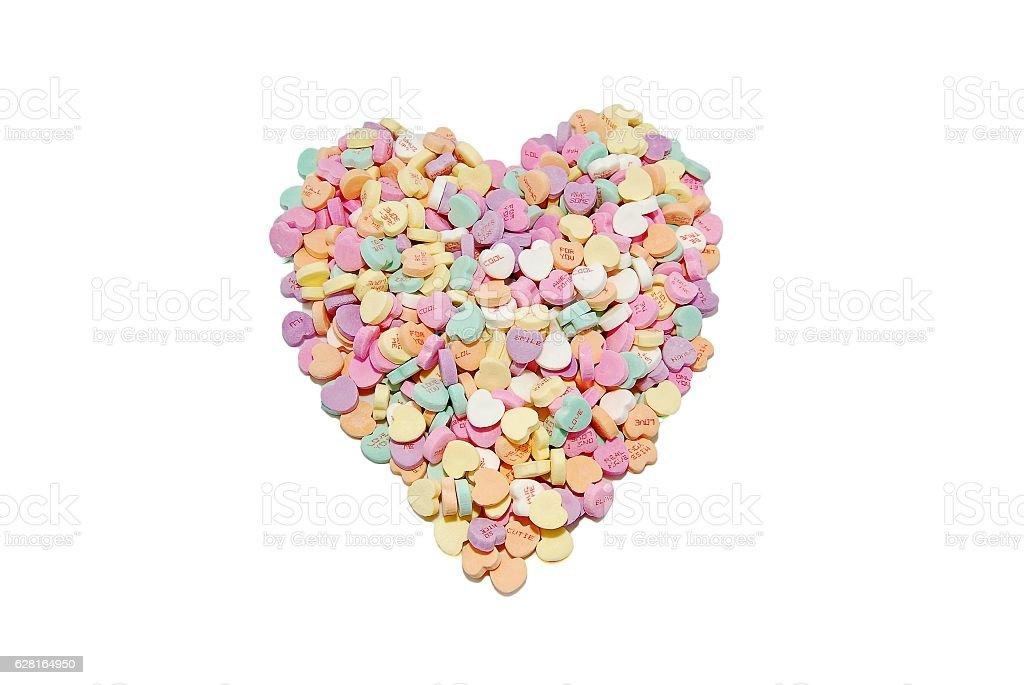 Conversation Hearts stock photo
