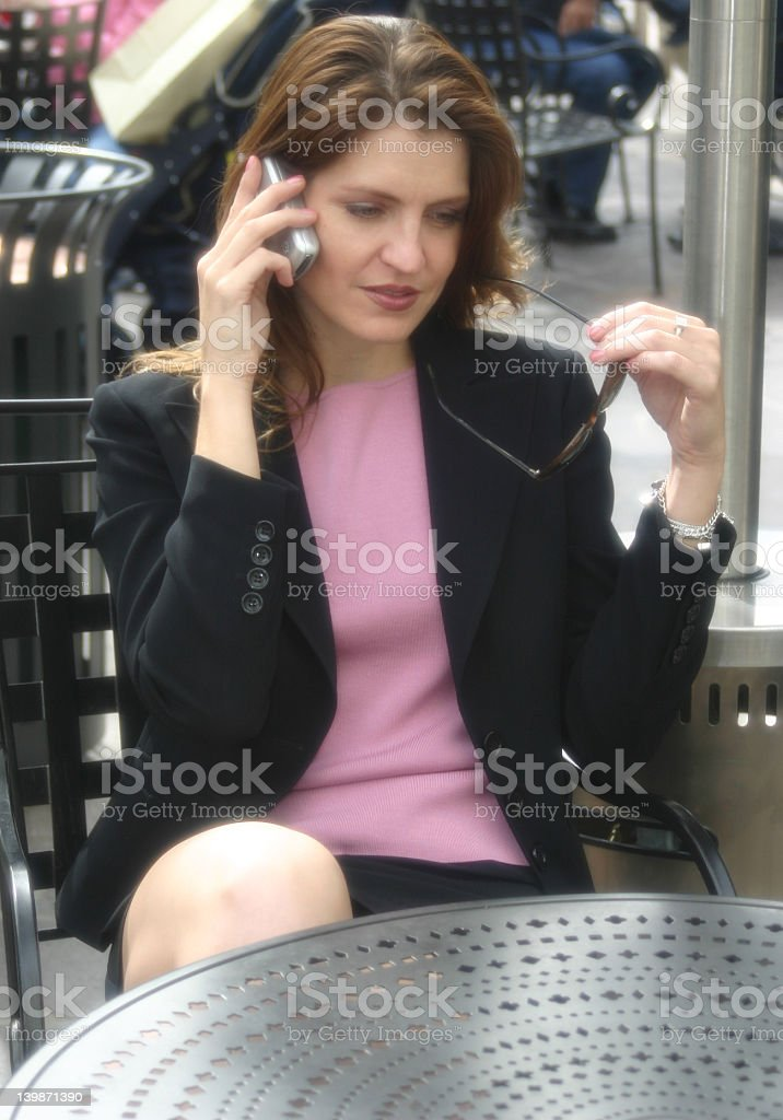 Conversation on Cell Phone royalty-free stock photo