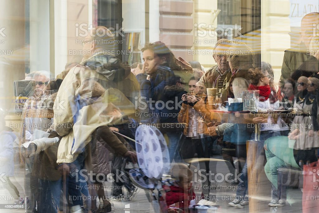 Conversations and people in Sarajevo, Bosnia and Herzegovina