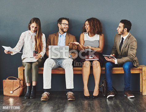 istock Conversations in the waiting room 858111386
