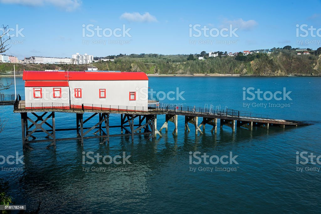 Converted Lifeboat Station stock photo