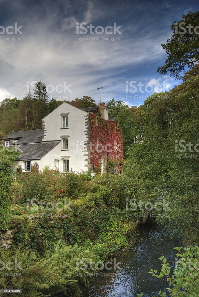 Converted mill near Torver royalty-free stock photo
