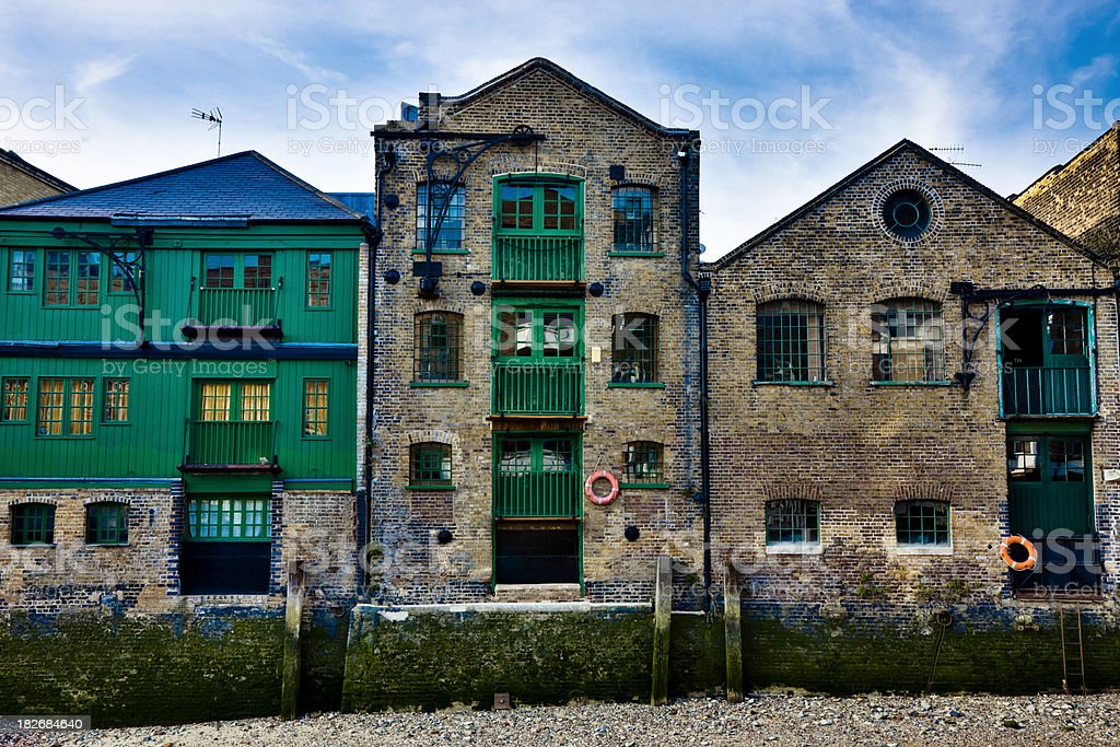Converted Riverside Warehouse in London, HDR stock photo