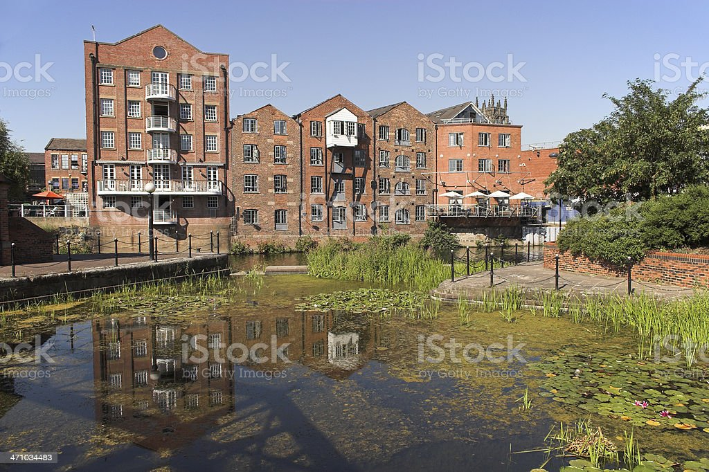 Converted warehouse flats royalty-free stock photo