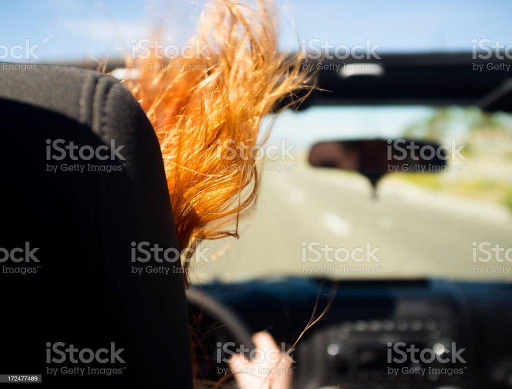 Convertible Driver stock photo