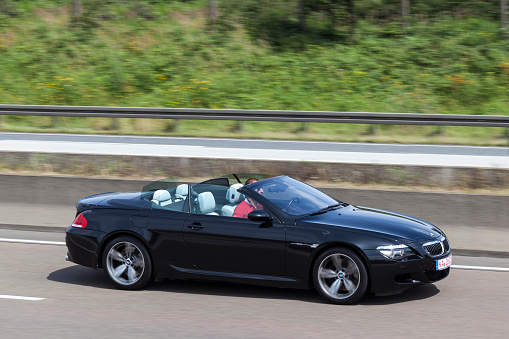 Bmw M6 Convertible On The Road Stock Photo - Download Image Now