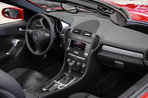 cabriolet - car interior stock photos and pictures