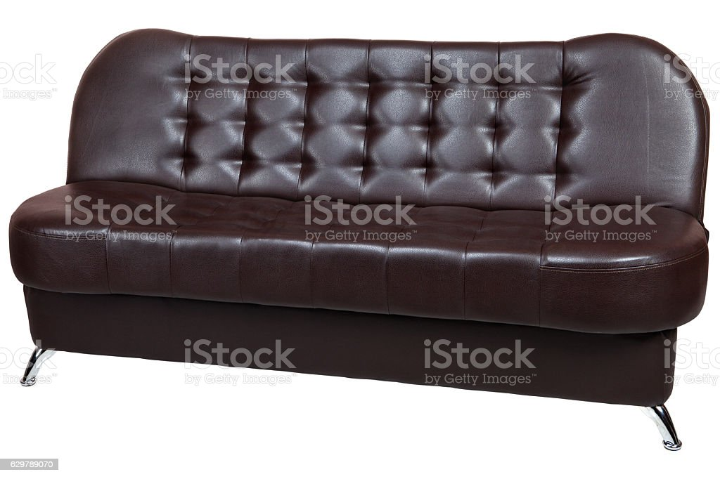 Convertible Sofa Bed Faux Leather With Dark Brown Color ...