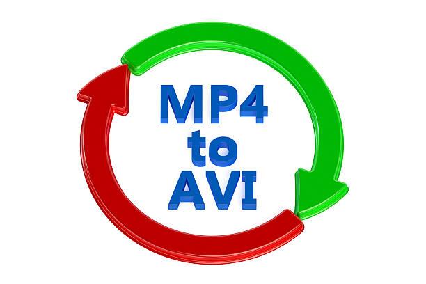 convertir el formato mp4 a avi - mp4 fotografías e imágenes de stock