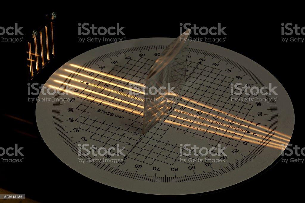Convex lens focus stock photo