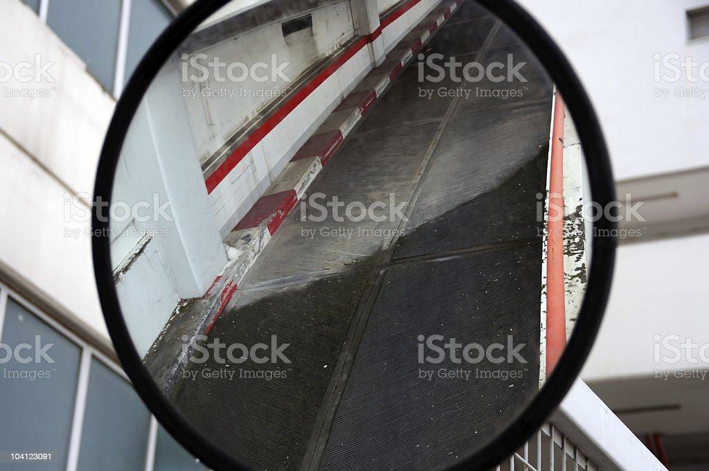 convex mirror stock photo