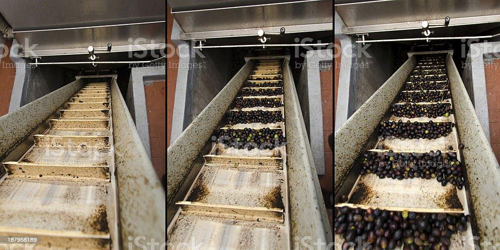 conveyor belt in a mill stock photo
