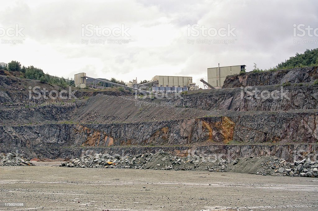 Conveyor Belt in a quarry stock photo