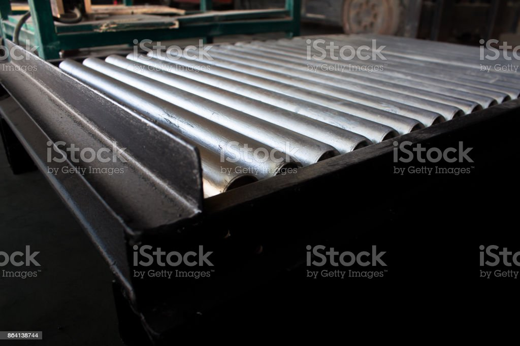 conveyor belt in packing production royalty-free stock photo
