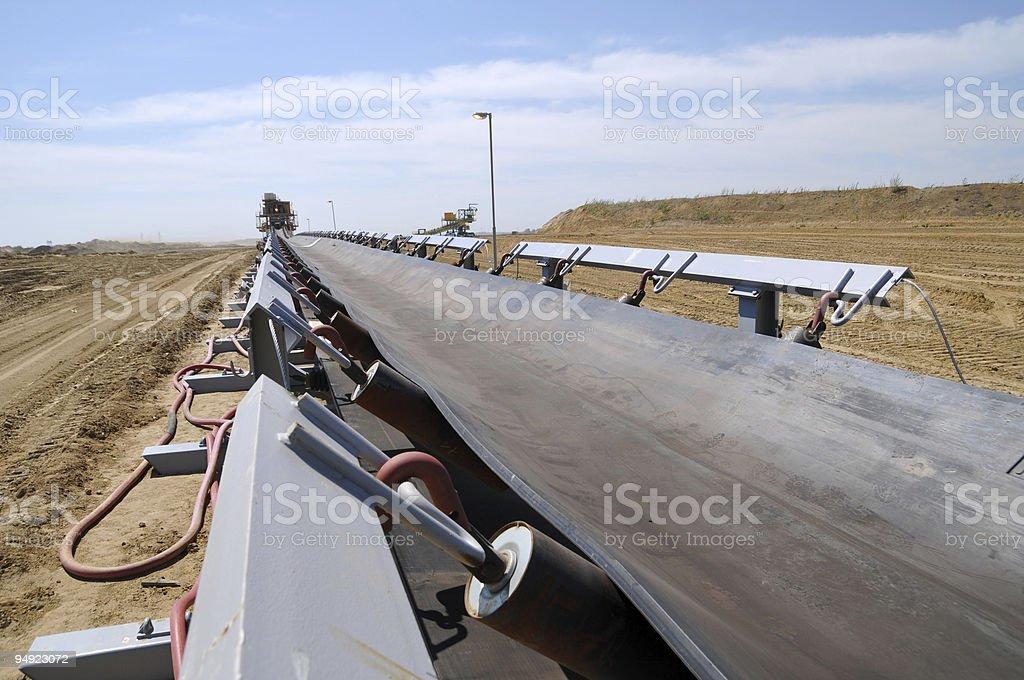 Conveyor belt royalty-free stock photo