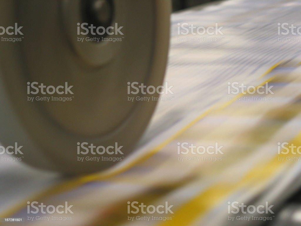 conveyor belt printing machine wheel royalty-free stock photo