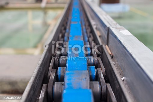 istock Conveyor belt, production line of the factory. 1030359252