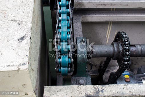 istock Conveyor chain drive shaft production line of the factory 817172004
